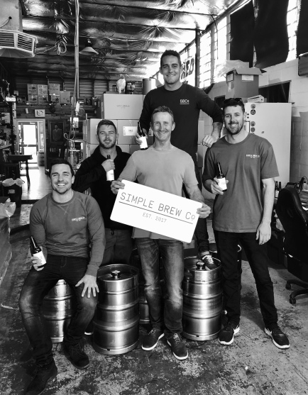 5 out of the 7 Simple Brew Co members